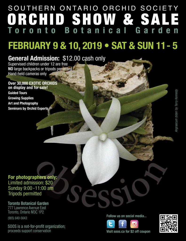 Southern Ontario Orchid Society Show & Sale 2019 @ Toronto Botanical Garden | Toronto | Ontario | Canada